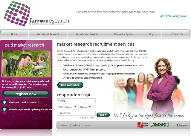 Join Farron Research Panel