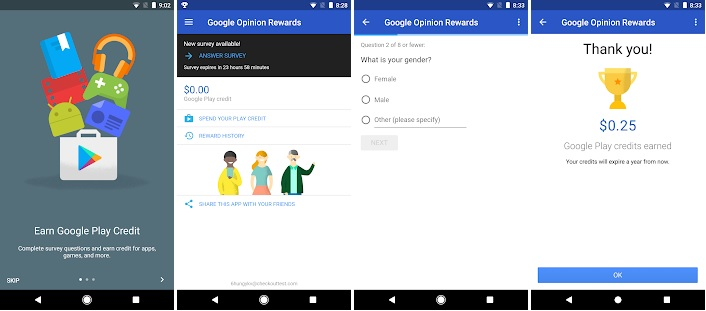 Google Opinion Rewards Joining Process