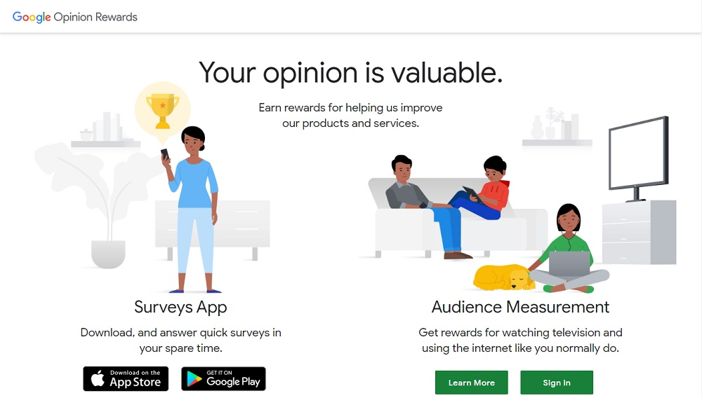 Google Opinion Rewards Panel